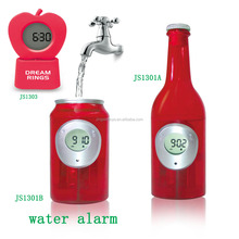 Cola bottle No battery LED digital water powered energy desk alarm clock