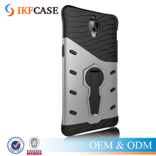 For OnePlus 3 Hydrid TPU PC Armor Case With 360 Degree Rotation Bracket Holder Anti-Knock Back Case For One Plus Three A3000