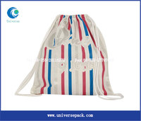 China manufacturer custom cotton fabric drawstring backpack bag