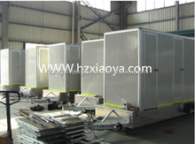 portable toilet with trailer/trailer toilet