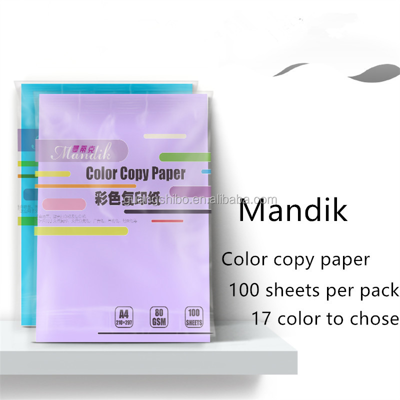 2016 designed colorful inkjet 80g uncoated A4 copy paper