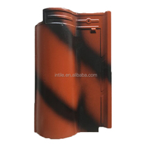 Hot sale double color roman ceramic roof tile for price 265x400