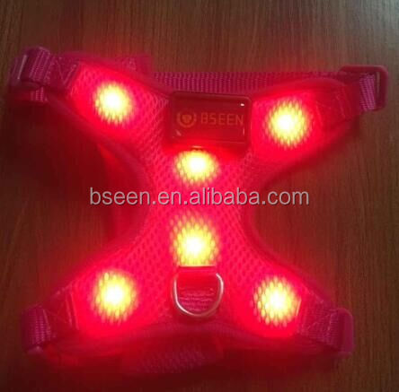 Newest led dog harness dog harness and leash set hunting vest dog