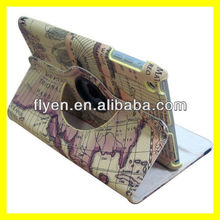 Magnetic Rotating Leather Case for iPad mini Smart Cover Wholesale Cheap Lot Cases Covers Stylish Earth World Map New 3