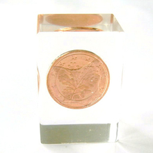 Plastic Acrylic Crystal with Enclosed Coin