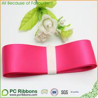 shocking pink double sides satin ribbon