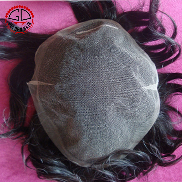Super fine French lace human hair toupee pieces in stock