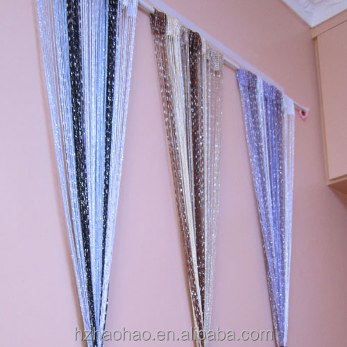 Multicolor flat silver 100cm x 200cm Fringe String Tassel Panel Curtain