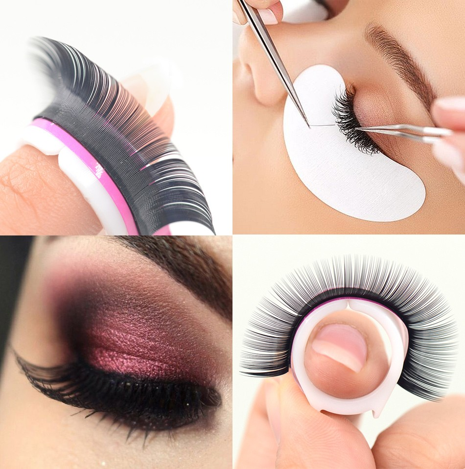 Private Label False Curly Eyelash Extensions Individual Mink Eyelash Extensions