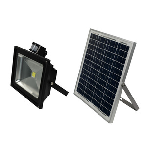 Industrial 50w solar powered led flood light outdoor with motion sensor