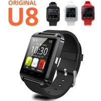 For iPhone 6 / 6 Plus / 5S Samsung S6 / Note 4 HTC Android Phone Smartphones 2016 factory price bluetooth Smartwatch U8 U Watch