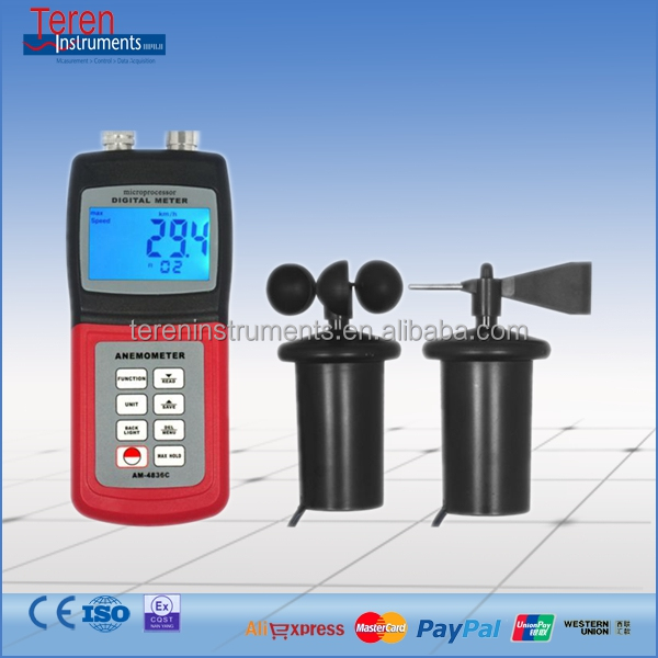 Low cost Multi-functional velocity meter Wind Speed Tester china supplier