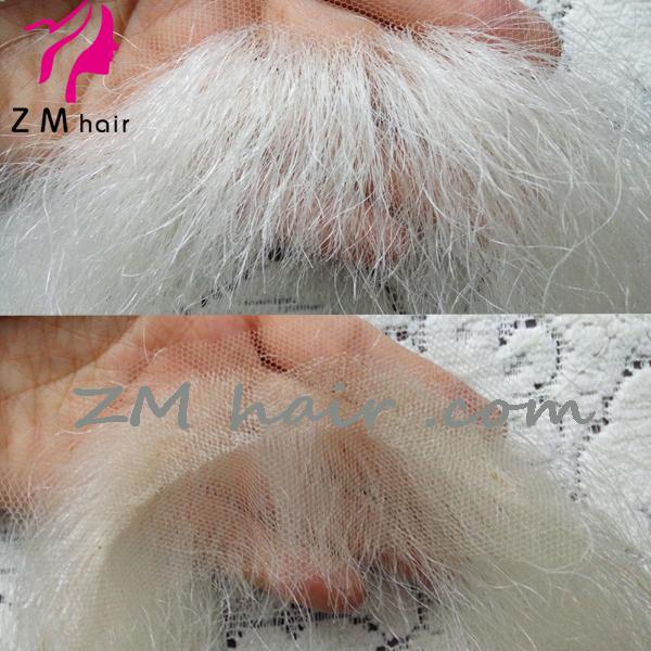 Wholesale Yak Hand Tied Swiss Lace Fake Christmas Santa Mustache And