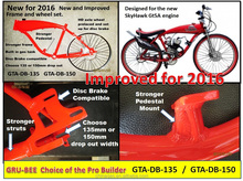 Motorized Bike Frame Aluminum alloy with built in gas tank