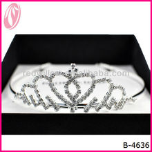 Hot Sale Fashion Kings Metal Tiara Halloween Pageant Christmas Crown