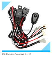 china factory automobile electric relay car light system wiring harness for fog lights