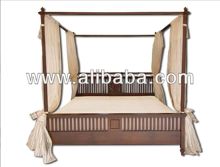 Teak Wood Bed , Made in Thailand