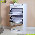 Wooden mirror shoes cabinet parts shoe rack GLS11315