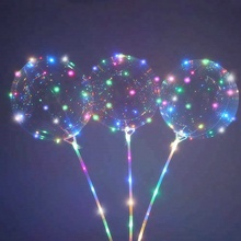 Wedding Decoration Mini LED Light Up Bobo Balloons With Stick And Holder