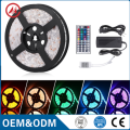 colourful changing rgb led strip light , 44 keys ir remote controler , power supply with blister box
