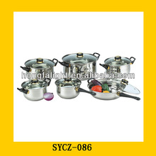 12PCS Stainless Steel Kinox Cookware