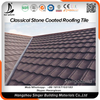 Colorful Clay roofing tile feature/Natural stone coated metal steel roofing tile