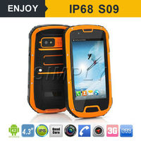 IP68 3G android 4.4 dual sim rugged android phone with nfc