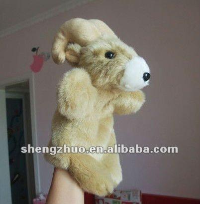 Plush hand puppet, goat plush toys