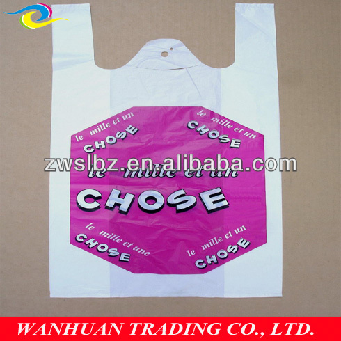 hot sale plastic t-shirt bag 25 years manufacturing experience hangzhou factory