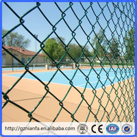 Guangzhou Diamond Galvanized/PVC Chain link fence netting low price(Guangzhou Factory)