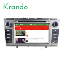 Krando Android 7.1 car radio gps dvd player for toyota avensis 2008-2013 navigation system WIFI 4G BT 2G RAM KD-TA738