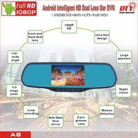 DTY car wireless reversing camera with rearview mirror,windscreen car camera dvr video recorder,A8