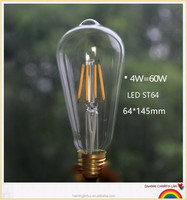 Tungsten filament st64 edison led bulbs E26/E27led edison bulb