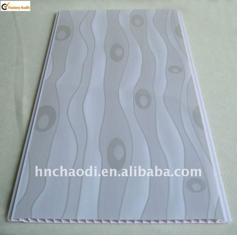 grey waves printing pvc ceiling designs ( CG 0226)