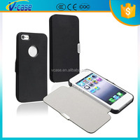 Factory Wholesale Untra Slim Flip Magnetic Leather Mass Production Case for iphone 4