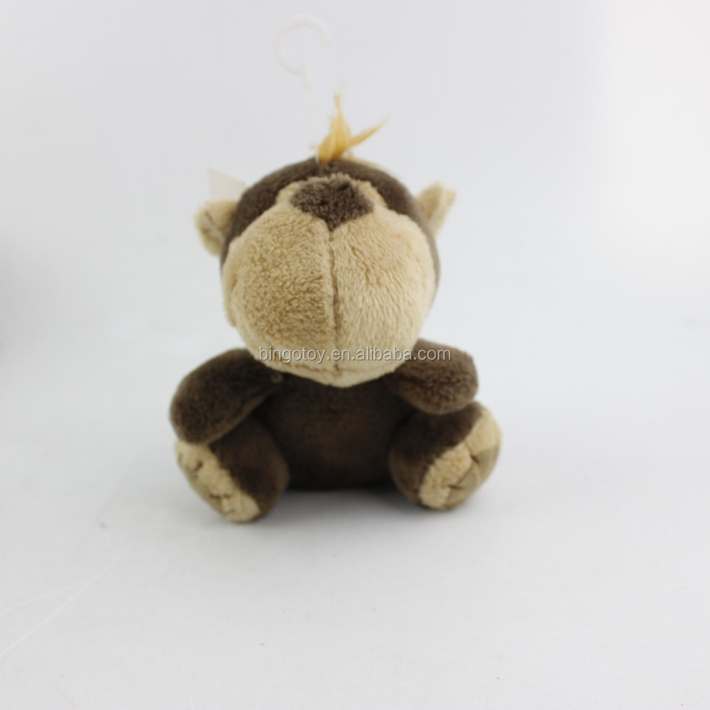2016 Hot Sale High Quality China wholesale stuffed animal customized little monkey plush keychain toy cute face with big mouth