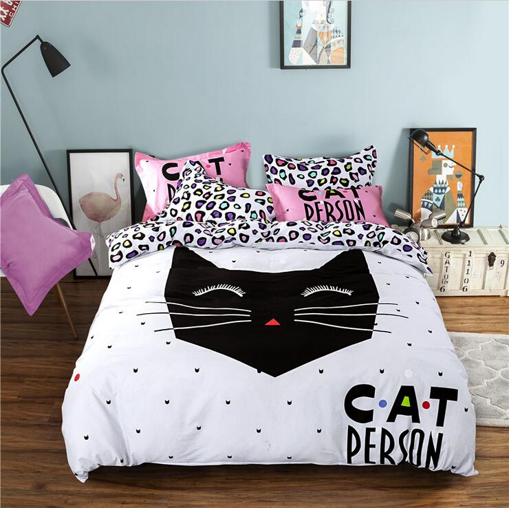 3d printing Cat design baby bedding 4pcs set for kids