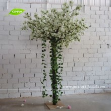 GNW 8ft white artificial trees cherry blossoms for sale with silk wisteria flower garland for wedding decoration