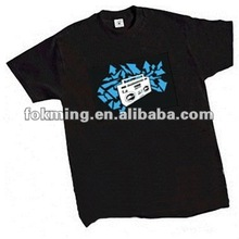 Sound sensor effect Dance Cool EL T-shirt for Party