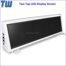 WIFI Control Upload Data LED Advertising Screen Car Roof High Refresh Rate