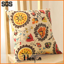 wholesale custom printed linen blank cushion cover