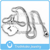 Wholesale Trendy Box Chain with Baby Foot Memorial Stainless Steel Jewelry Handmade Necklace