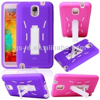 HOT!! 3in1 Smart Cover Case For Samsung Galaxy Note 3/For Samsung N9000 Galaxy Note3 Cover Case with kickstand