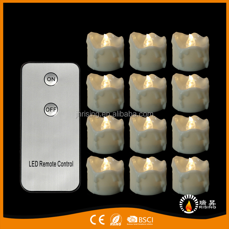 Remote Control Pillar Shape Decorative LED Tea Light Candles Set For Sales