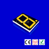 cathode 1.5 inches single digit led 7 segment display yellow / Amber