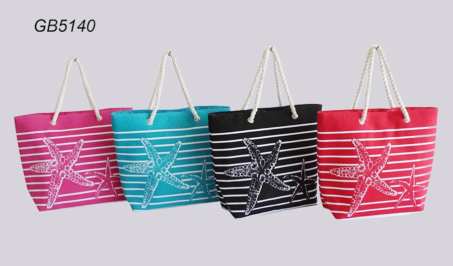 competitive price stripe cheap wholesale canvas raffia beach bags