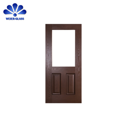 Customer design exterior glass wood door and front entry doors with glass panels