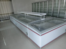 comercial Curved Glass door chest Freezer