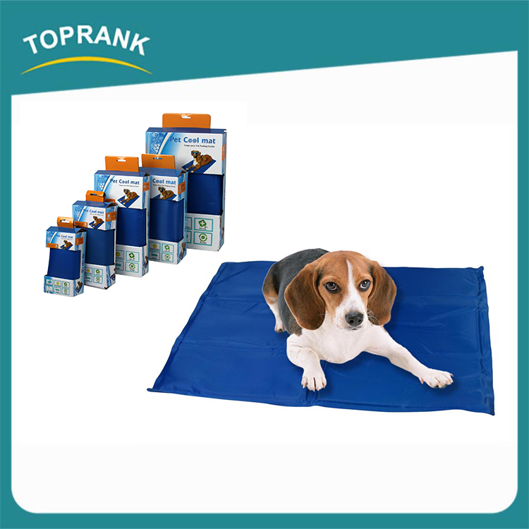 Toprank waterproof soft pet cooling gel pad, dog ice cool mat, gel pet cooling mat