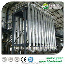 European standards biodiesel plant machine, used cooking oil making biodiesel production machine